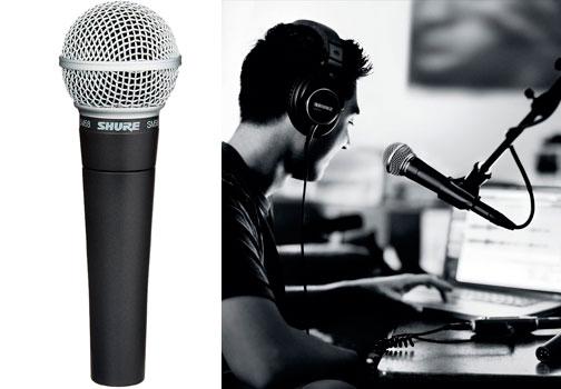 microfono para podcast Shure SM58