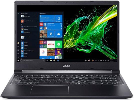 Acer Aspire 7 Las mejores laptops para trabajar desde casa