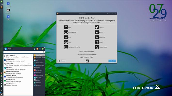 MX Linux Las mejores distros Linux para Laptop